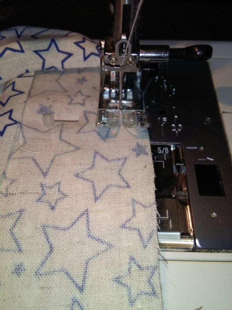 縫いしろ1㎝を縫う